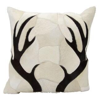 mina victory dallas antler piecework beige throw pillow 20inch x 20inch