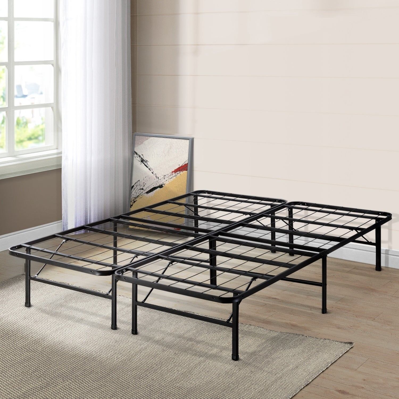 Crown Comfort 14-inch King-size Platform Bed Frame (King)...