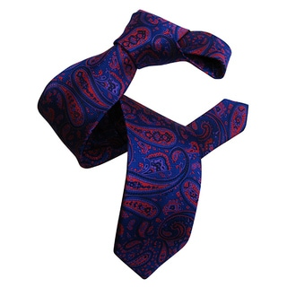 Dmitry Men's Blue Italian Patterned Silk Tie