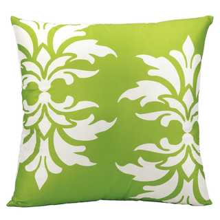Mina Victory Indoor/Outdoor Damask Apple Green Throw Pillowby Nourison (20-Inch X 20-Inch)