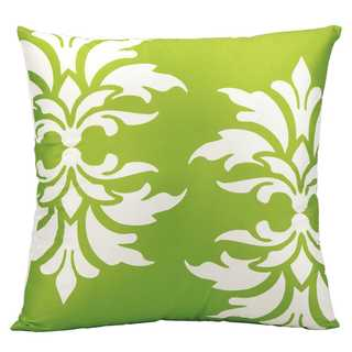 Mina Victory Indoor/Outdoor Damask Apple Green Throw Pillow (20-inch x 20-inch) by Nourison