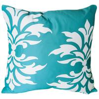 Mina Victory Indoor/Outdoor Damask Turquoise Throw Pillow (20-inch x 20-inch) by Nourison
