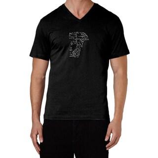 Versace Collection Black Half Medusa Studded T-shirt