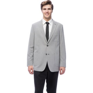 Via Toro Men's Black Checker Comfort Sport Coat