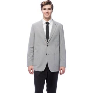 Via Toro Men's Black Checker Comfort Sport Coat (As Is Item)