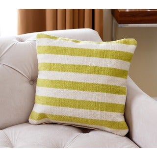 ABBYSON LIVING 20-inch Pacifica Striped New Zealand Wool Throw Pillow