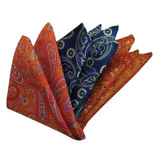 Dmitry Men's Italian Silk Pocket Squares (Pack of 3)|https://ak1.ostkcdn.com/images/products/11602303/P18540692.jpg?impolicy=medium