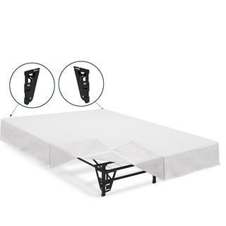 Crown Comfort 14-inch King-size Platform Bed Frame with Brackets and Skirt