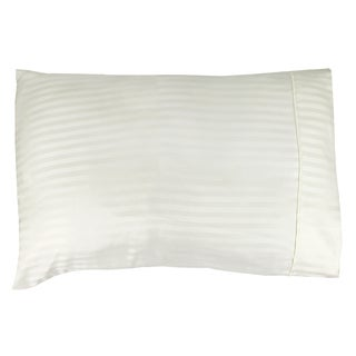 Couture Home Collection Elegant Soft Touch Individual Pillow Case Cream Stripe