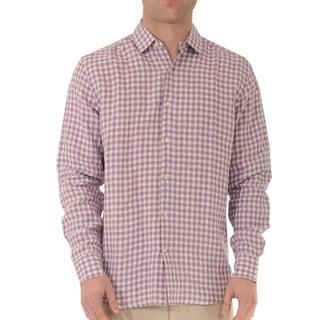 Long Sleeve Gingham Linen Shirt