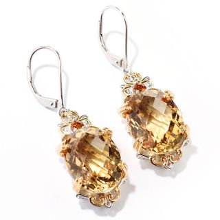 Michael Valitutti Citrine and Madeira Citrine Earrings