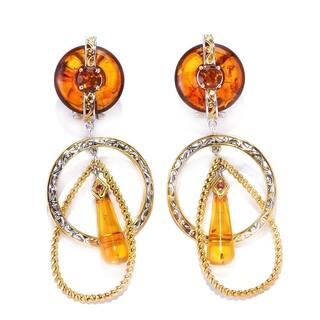 Michael Valitutti Amber, Madeira Citrine and Dark Orange Sapphire Earrings|https://ak1.ostkcdn.com/images/products/11602330/P18540713.jpg?impolicy=medium