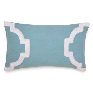 Jill Rosenwald Copley Collection - Newport Gate Embroidered Decorative Pillow