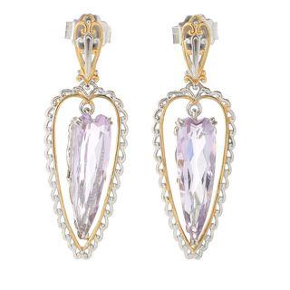 Michael Valitutti Pink Amethyst Heart Earrings