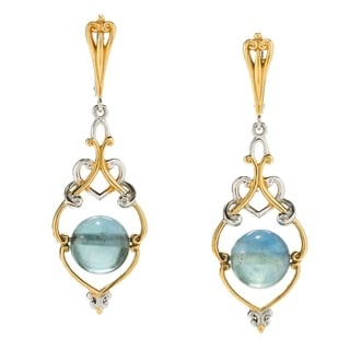 Michael Valitutti Fluorite Bead Earrings