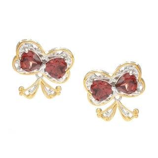 Michael Valitutti Garnet Bow Earrings