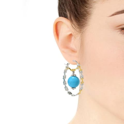 Gems en Vogue Sleeping Beauty Turquoise Earrings