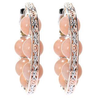 Michael Valitutti Peach Moonstone Earrings