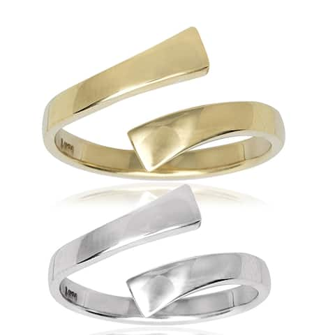 14k Yellow or White Gold High Polish Bypass Toe Ring