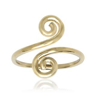 14k Yellow Gold Art Deco Spiral Bypass Adjustable Toe Ring|https://ak1.ostkcdn.com/images/products/11602390/P18540756.jpg?impolicy=medium