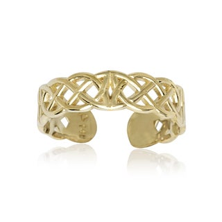 14k Yellow Gold Celtic Knot Adjustable Toe Ring