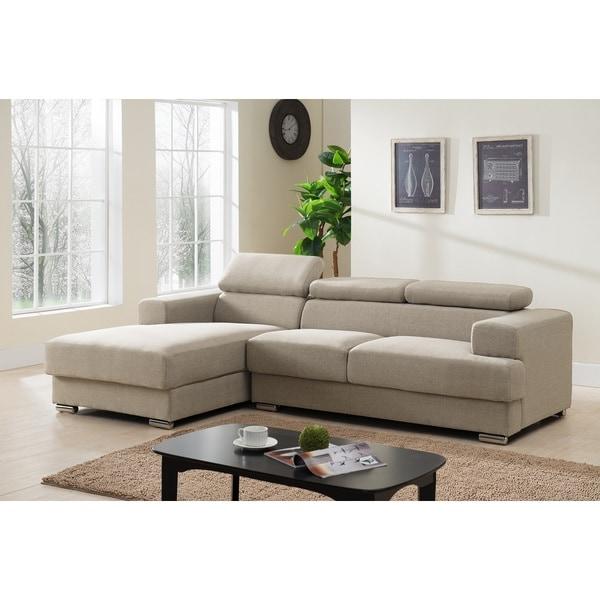 Shop Gabriel Fabric Contemporary Sectional Sofa Set - Free Shipping ...