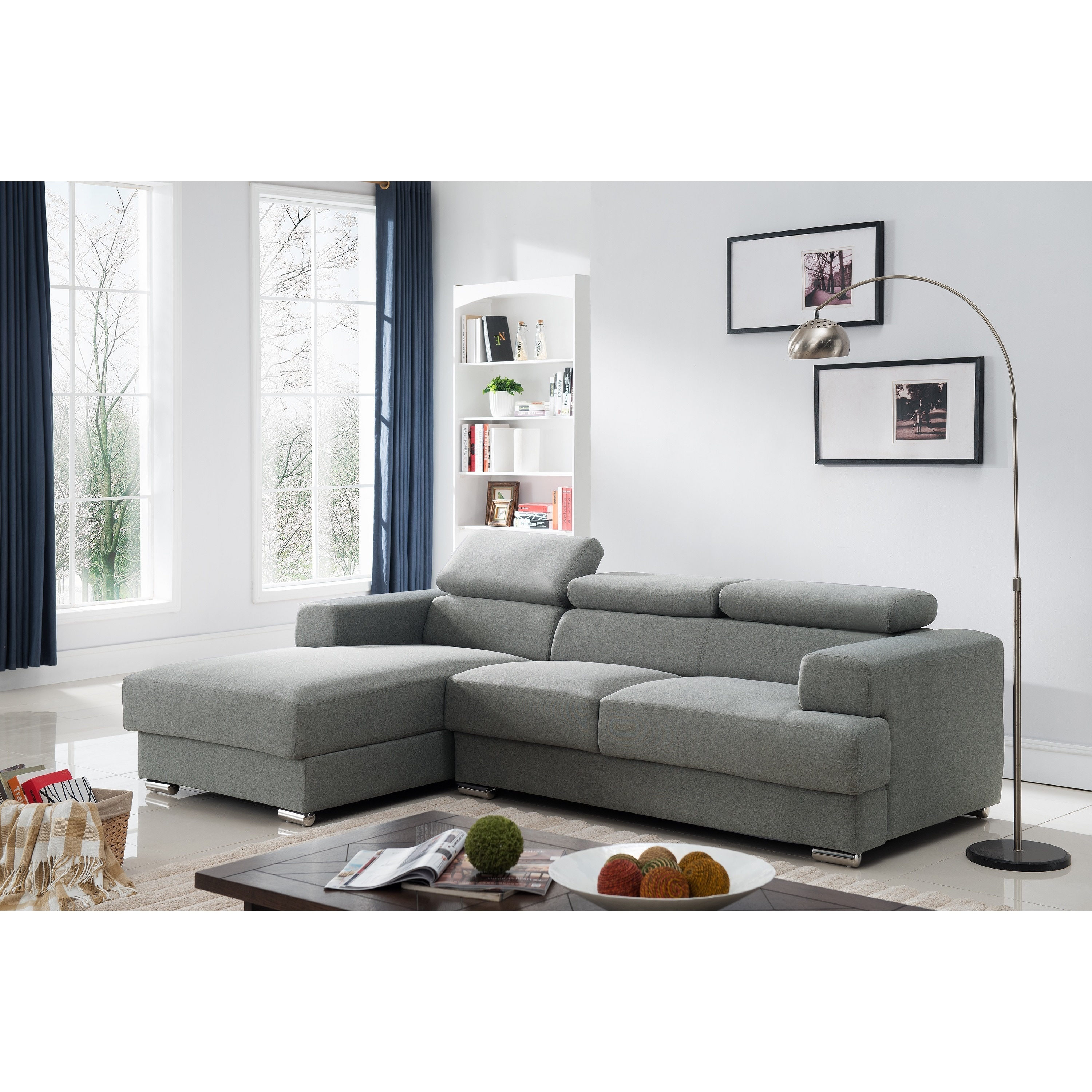 Gabriel Fabric Contemporary Sectional Sofa Set