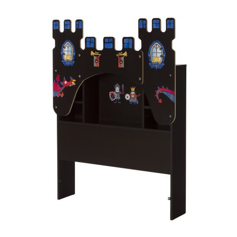 South Shore Vito Castle Themed Twin Bookcase Headboard with Decals