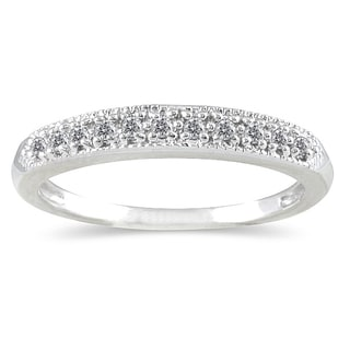 Marquee Jewels 10K White Gold 1/10 Carat TW Diamond Band
