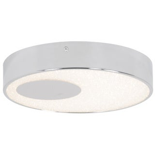 Alternating Current Crystalline LED Dimmable Round Chrome Small Flush Mount with Acrylic Diffuser