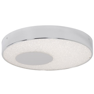 Alternating Current Crystalline LED Dimmable Round Chrome Medium Flush Mount with Acrylic Diffuser