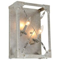 Varaluz Askew 2 light Silver Age Right Wall Sconce