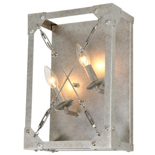 Alternating Current Askew 2 light Silver Age Left Wall Sconce