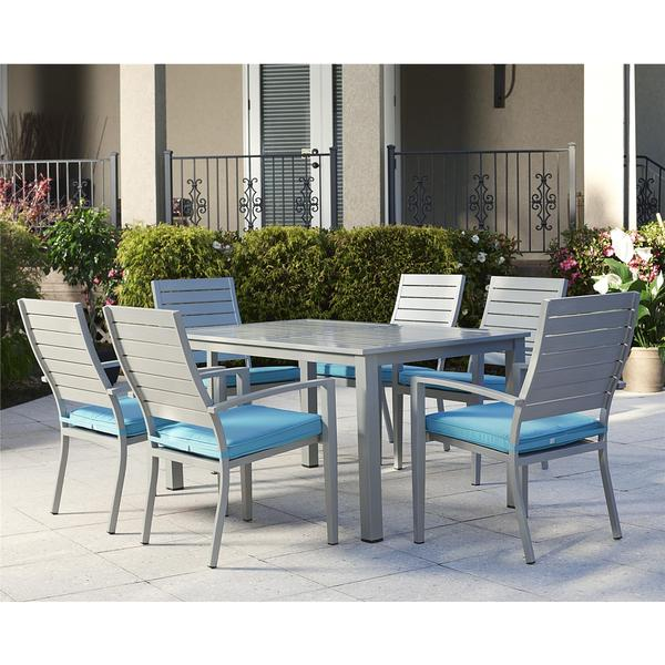 COSCO 7 Piece Outdoor Aluminum Patio Furniture Dining Set Free Shipping Tod
