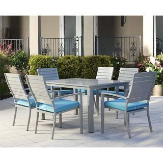 Cosco 7 Piece Outdoor Aluminum Patio Furniture Dining Set