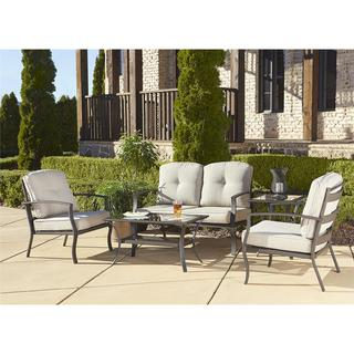 Cosco Outdoor 5-piece Aluminum Patio Conversation Set with Coffee Table