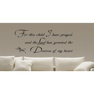 Interior Prayed For This Child Wall Art Sticker Decal