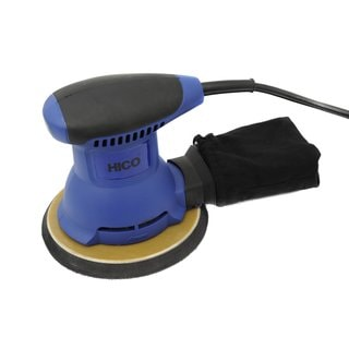 HICO HET-205 2.0-Amp 6 Inch Random Orbital Palm Sander with Cloth Dust Bag