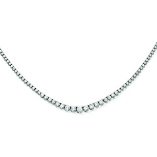 Versil Sterling Silver Cubic Zirconia Necklace