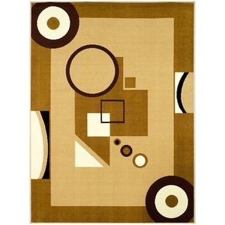 LYKE Home Abstract Brown Polypropylene Area Rug ( 8' x 10')