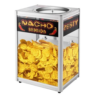 Great Northern Black Metal Commercial-grade Nacho Chip Warming Station