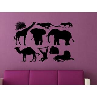 Many animals Wall Art Sticker Decal