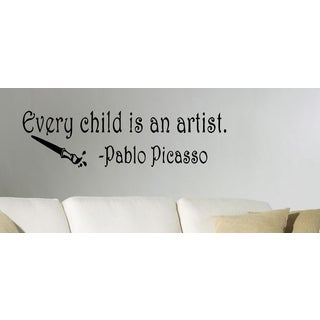 Every Child is an Artist quote Wall Art Sticker Decal