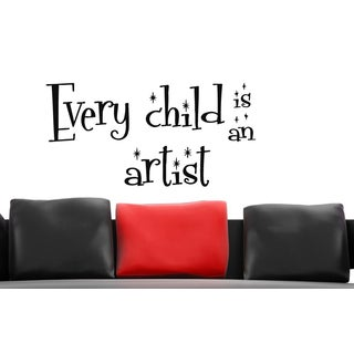 Expression Every Child is an Artist Wall Art Sticker Decal