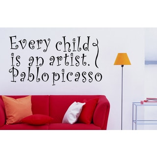 Beautiful inscription Every Child is an Artist Wall Art Sticker Decal