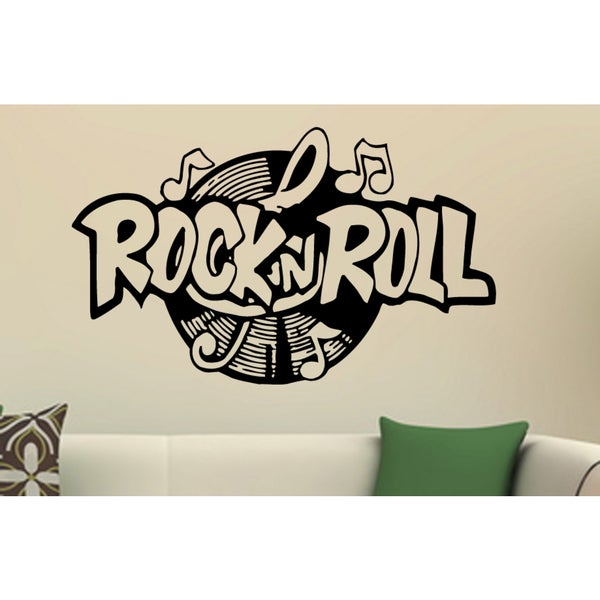 Music plate Rock and Roll Wall Art Sticker Decal - Free Shipping On ...