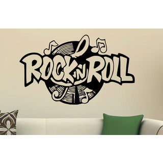 Music plate Rock and Roll Wall Art Sticker Decal