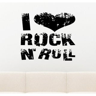 I Love Rock and Roll Wall Art Sticker Decal