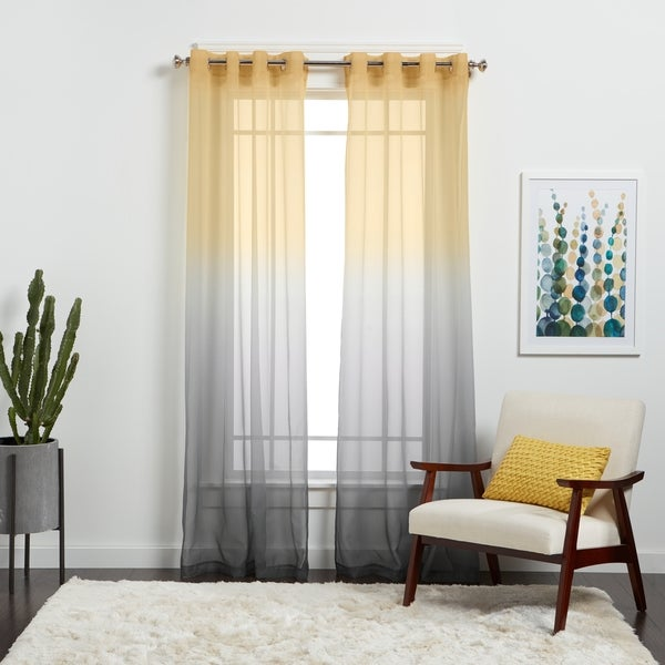 Achim Semi Sheer Ombre Curtain Panel Free Shipping On