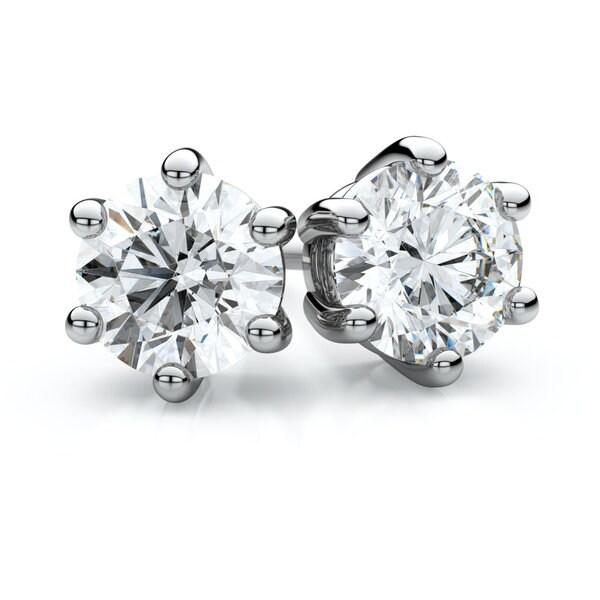 14k White Gold 1 3ct Tdw 6 G Round Diamond Stud Earrings